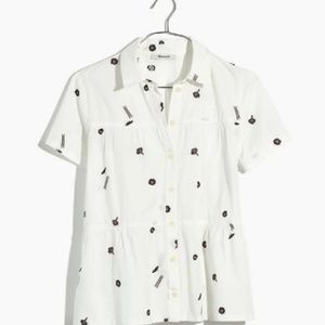 Madewell Seamed Button-Down El Rancho shirt, XXS